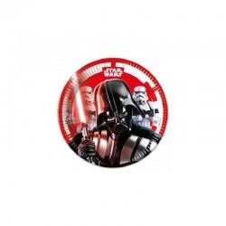 8 Pratos 20 cm Star Wars...