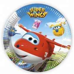 8 pratos super wings 23 cm