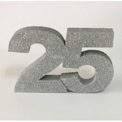 Número 25 18cm esferovite...