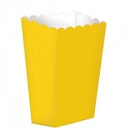 5 Caixas Pipocas Lisas Amarelo