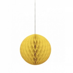 Globo de Papel 25cm - Amarelo