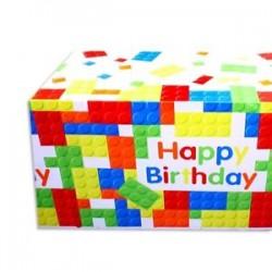 Toalha Plástico Bulding Blocks