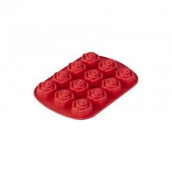Molde silicone rosas c/12...