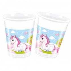 8 copos plástico 200 ml...