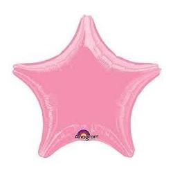 Balãio estrela rosa metalizada