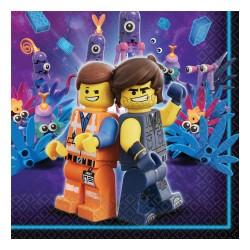 16 Guardanapos 33x33cm Lego...