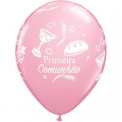 Balões Qualatex Comunhão Rosa