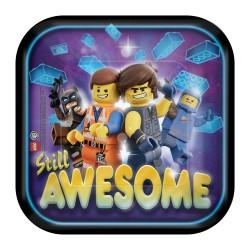 8 pratos 18 cm Lego Movie