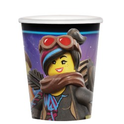 8 copos 266 ml Lego Movie