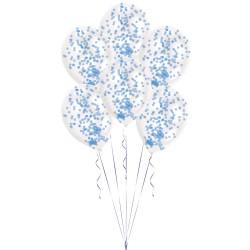 6 Bablões Confetti Kit - Azul