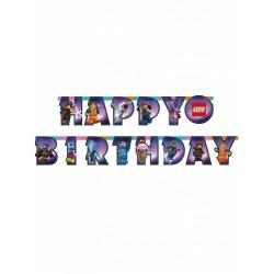 Banner Happy Birthday Lego...