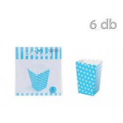 Caixas Pipocas Azul Bolas 6...