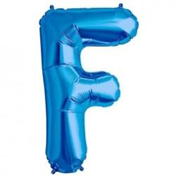 Balão Foil Letra F Azul
