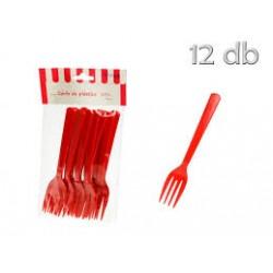 12 garfos vermelho