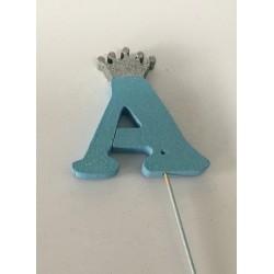Letra eferovite azul coroa...
