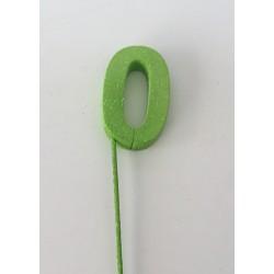 Número 0 esferovite verde 8 cm