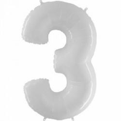 Balão White Shiny White nº3