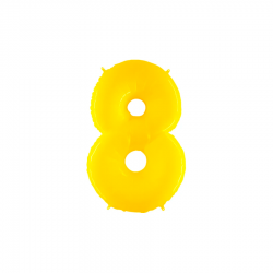 Balão Yellow Shine White nº8