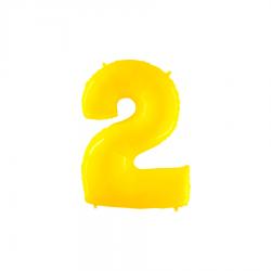Balão Yellow Shine White nº2
