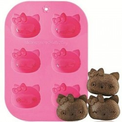 Moldes 6 Muffins - hello Kitty