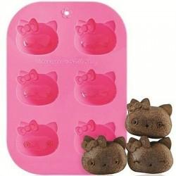 Moldes 6 Muffins - hello Kitty
