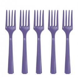 10 garfos Púrpura