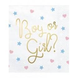 20 Guardanapos Boy or Girl