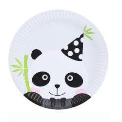 6 Pratos Palpel 18cm Panda