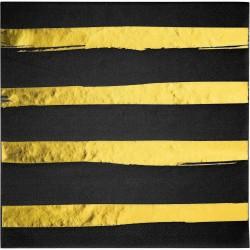 guardanapos black and gold...