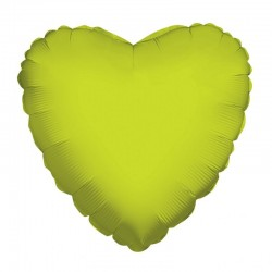 Balão Foil Coração Verde Lima