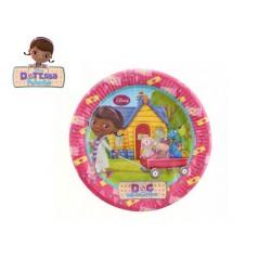 8 Pratos 23 cm DR. Brinquedos