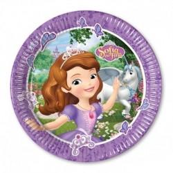 8 Pratos 23cm Princesa Sofia