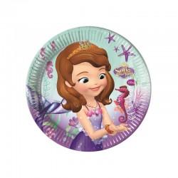 8 Pratos 23 cm Princesa Sofia