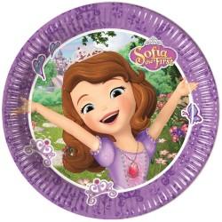 8 Pratos 20cm Princesa Sofia