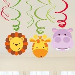6 Swirl Decorations