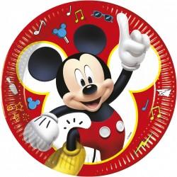 8 Pratos 23cm Mickey Pals...