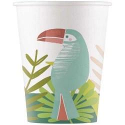 8 copos papel 200 ml - Tucano