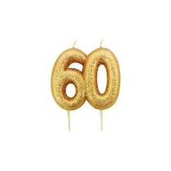 Vela Glitter 60 - ouro
