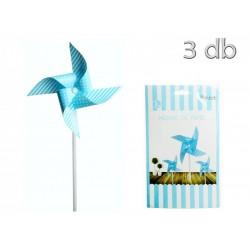 3 moinhos vento papel azul...