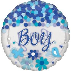 Balão Jumbo Baby Boy Confetti