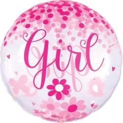 Balão Jumbo Baby Girl Confetti