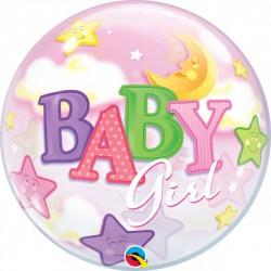 Balão Bubbles baby Girl...