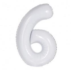 Balão White Shiny White nº6
