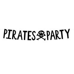 1 banner pirata preto 14x100cm