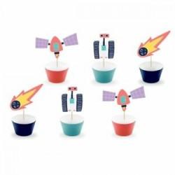 6 Formas cupcakes Kit Espaço