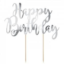 Topo de bolo Happy Birthday...