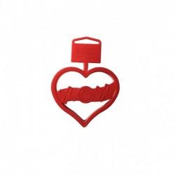Wilton cortante coração xox
