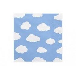 20 Guardanapos 33x33 cm nuvens