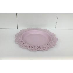 Prato metal rosa