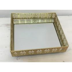 Tabuleiro espelhado dourado